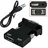 Конвертер с HDMI на VGA OUT Black со звуком