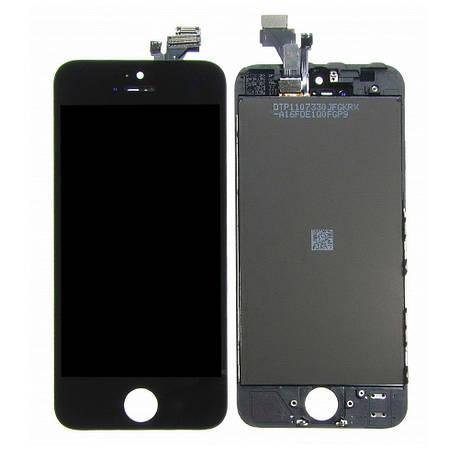 Дисплей (LCD) iPhone 5 с сенсором чёрный, фото 2