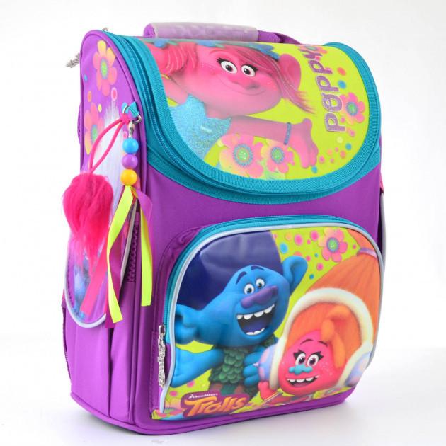 Рюкзак школьный каркасный H-11 Trolls 34*26*14 см