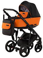Детская коляска 2 в 1 Richmond Mirello кожа 100% оранжевый - черный