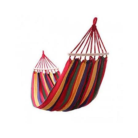 Гамак для сада 200х150 см подвесной, хлопковый, с планкой до 180 кг, гамак мексиканский, гамак летний, фото 2