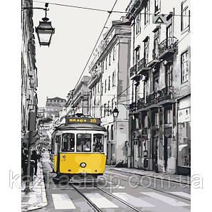 Картина по номерам -  Жовтий трамвайчик (КНО2187)