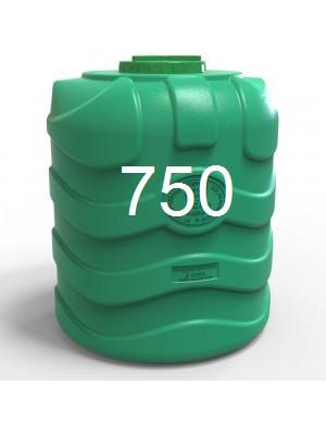 Емкость пластиковая вертикальная трехслойная объемом 750 литров