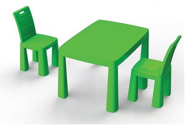 """Детский столик ТМ """"Долони"""" + аэрохоккей (04580/2) Зеленый, фото 2"""
