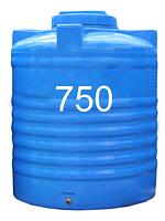 Емкость пластиковая двухслойная вертикальная 750 литров.