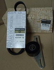 Комплект ремня генератора (ремень+ролик) Dacia Logan MCV с Г/У без А/С 1.6 8V (оригинал)
