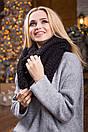 В'язаний жіночий хомут/снуд/шарф Ricato, сірий, фото 4