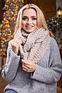 В'язаний жіночий хомут/снуд/шарф Ricato, сірий, фото 6
