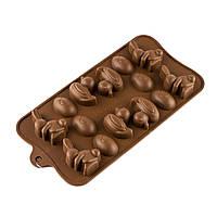 Форма для конфет силикон Утка, заяц, Яйцо 15 шт
