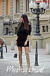 Тепла жіноча сукня на флісі, фото 4