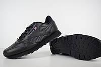 Кроссовки Reebok Classic мужские, черные, в стиле Рибок Классик, кожа, код OD-1902