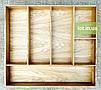Деревянный лоток для столовых приборов Lot 406 600х500. (индивидуальные размеры), фото 2