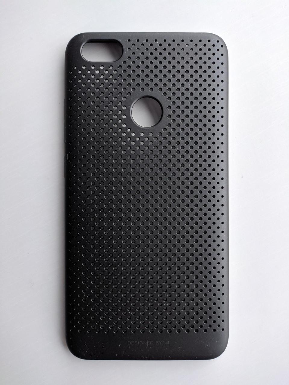 Оригинальны чехол для Xiaomi Redmi Note 5a Pro черный матовый перфорированный ATF4830TY