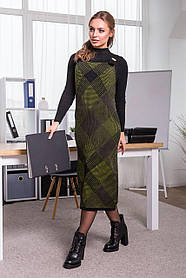 Теплое платье-сарафан в клетку РАЗНАЯ РАСЦВЕТКА В АССОРТИМЕНТЕ Размер универсальный 42-48