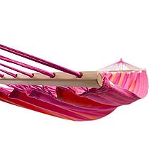 Гамак 200х120 см подвесной, хлопковый, до 180 кг, гамак для дачи, 2х местный гамак, фото 2