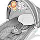Шезлонг качалка для ребенка с подсветкой Lionelo Henk, фото 6