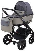 Детская коляска 2 в 1 Bair Mirello кожа 100% М33/32 графит - серый, фото 1