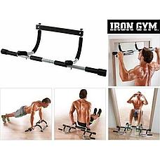 Турник в дверной проем Iron Gym без сверления, цвет серый, фото 2