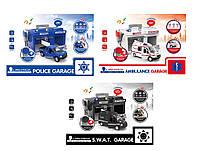 Детская игрушка паркинг для мальчиков CLM-556/7/8  машина, свет, звук, 3 вида, в кор.