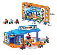 Детская игрушка паркинг для мальчиков м 553-231  заправка,3 героя в кор. 47*25,5*9см