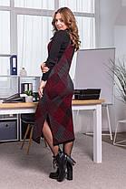 Тепле плаття-сарафан в клітку РІЗНА ЗАБАРВЛЕННЯ В АСОРТИМЕНТІ Розмір універсальний 42-48, фото 3