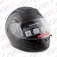Шлем DVKmoto (DOT FMV SS 218) с подъем челюсть 1А1 черный размер S