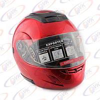 Шлем DVKmoto (DOT FMV SS 218) с подъемной челюстью 1А1 красный