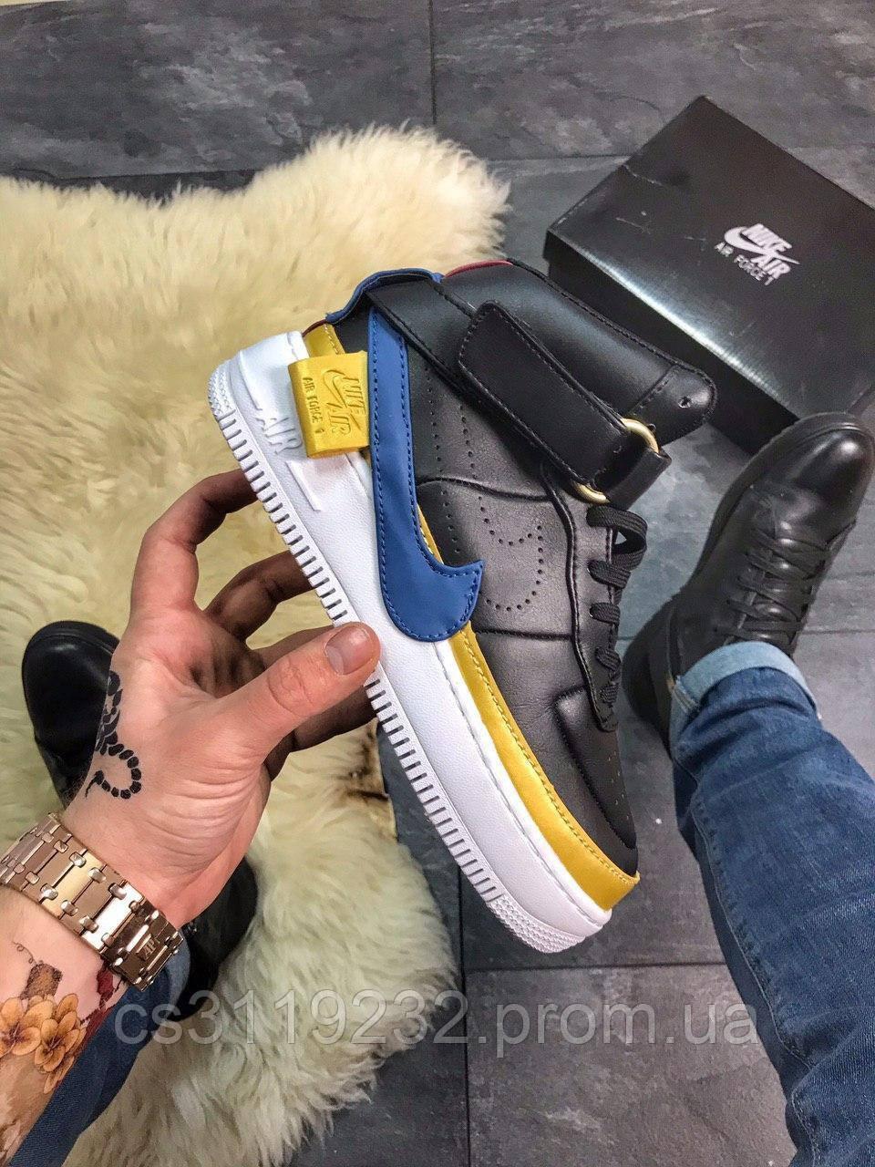 Женские кроссовки Nike Air Force 1 Jester High Black (черные)