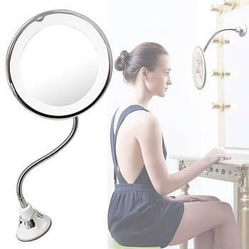 [ОПТ] Гнучке дзеркало для макіяжу Ultra Flexible Mirror з 10-ти кратним збільшенням і LED підсвічуванням