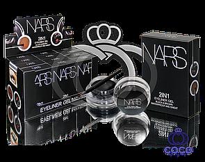 Набір гелевих підводок для очей і брів Nars Gel eyeliner 2 in 1