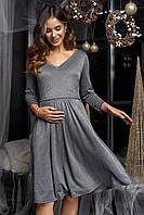 Платье трикотажное с люрексом Shine (графит)