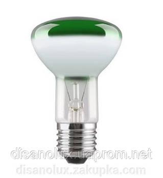 Лампа рефлекторная R63 40вт E27 зеленая