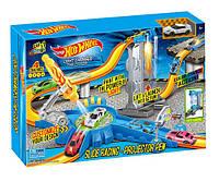Автотрек игрушечный  инерц.  7913  машина меняет цвет, в коробке 56*7*36см