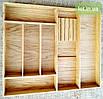 Деревянный лоток для столовых приборов Lot k407 800х500. (индивидуальные размеры), фото 3