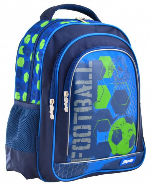 Детский рюкзак S-22 Football водоотталкивающий синий для мальчиков