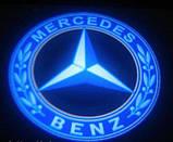 Подсветка двери Mercedes на батарейках, фото 2