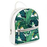 Молодежный рюкзак в школу белый Тропические листья ERK_TRO015_WH