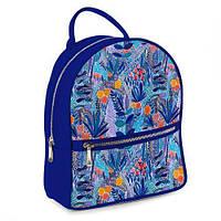 Стильный рюкзак городской молодежный Синие цветы ERK_17A080_SI