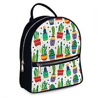 Стильный рюкзак городской молодежный Кактусы ERK_17A077_TSI