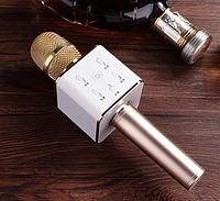 ОРИГИНАЛ! Микрофон караоке с колонками Tuxun Q7 Розовый. Беспроводной Блютуз. Лучший детский подарок, фото 1