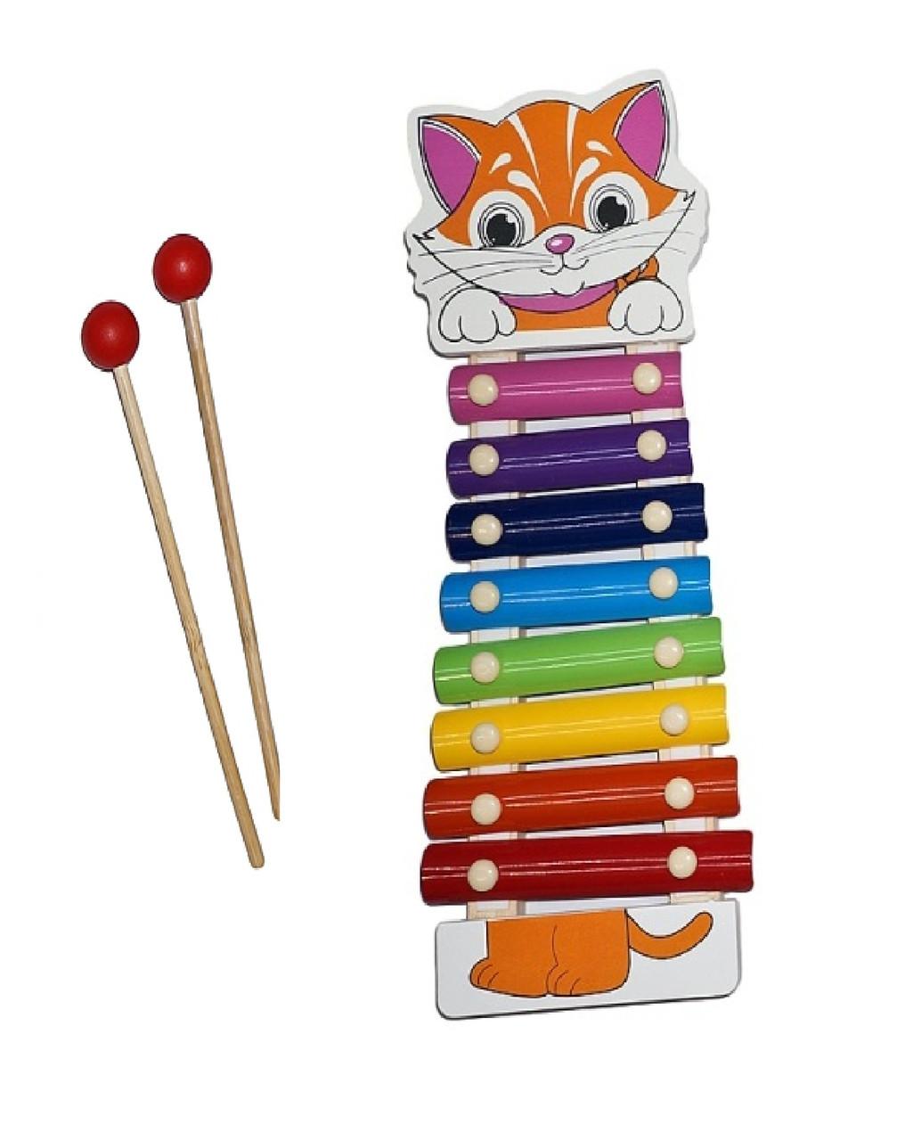 Ксилофон «Котик» детская музыкальная игрушка 0712