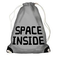 Рюкзак-мешок спортивный молодежный Space inside,сумки мешки школьные