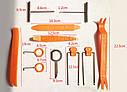 Комплект інструменту для зняття панелей салону ZIRY HF-007 12 pcs orange plastic-metal, фото 6