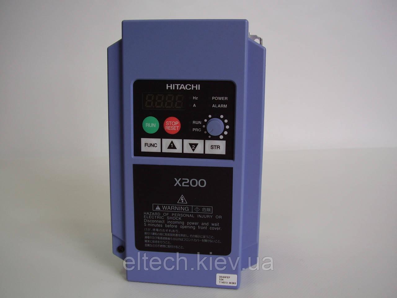Трехфазный преобразователь частоты Hitachi X200-004HFEF, 0.4кВт, 380В