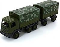 Автомобіль «Престиж» бортовий тентовий військовий з причепом Polesie