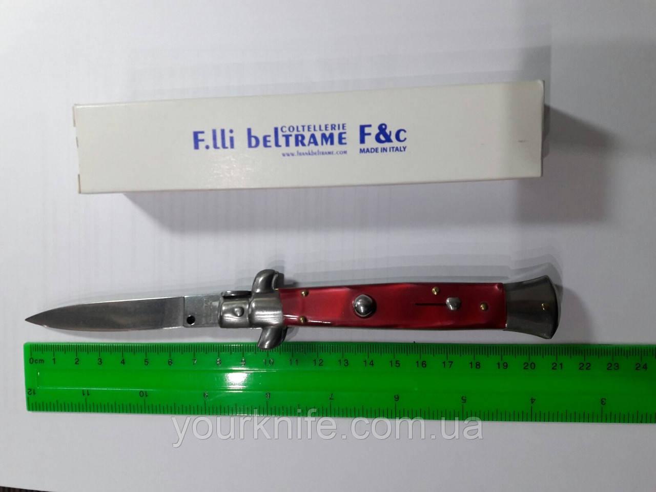 Нож Итальянский автоматический стилет Linder Beltrame 20см пластик красный