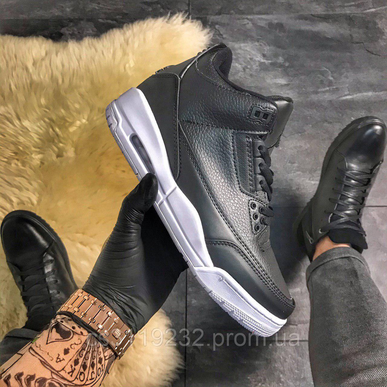 Мужские кроссовки Air Jordan 4 Retro Black (черные)