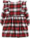 Нарядное платье на длинный рукав для девочки Carter's красное в клеточку. твил 24 мес/83-86 см, фото 2
