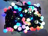Гирлянда ШАРИКИ 50 LED 16mm  6 метров разноцветная, фото 2