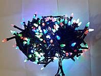 Гирлянда ЕЛКА 300 LED на черном проводе,  разноцветная